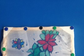 Panthers Class learned how to paint on silk. They designed their rainforest inspired paintings.